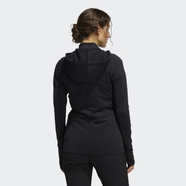 Women Golf Black Sport Performance Recycled Polyester Quilted Full-Zip Jacket