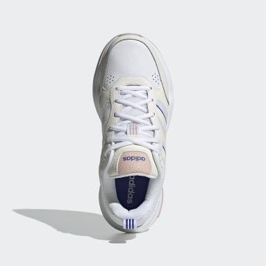 Women Sport Inspired White Strutter Shoes