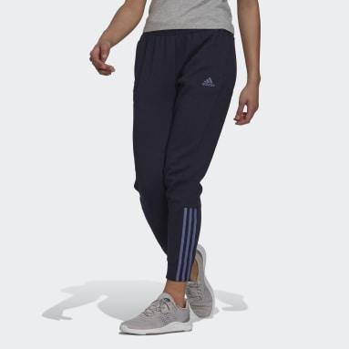 Women Sport Inspired Blue Essentials 3-Stripes Pants