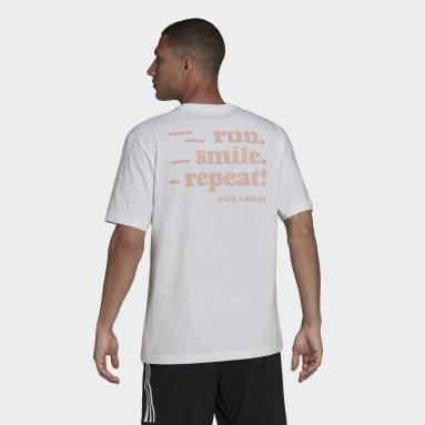 T-shirt Signature Blanc Hommes Running