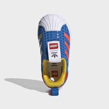 Jongens Originals Blauw adidas Superstar 360 x LEGO® Schoenen