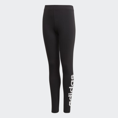 Licras Essentials Linear - Pretina Baja Negro Niño Sportswear