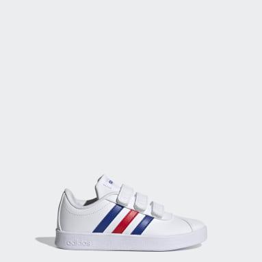 Kids 4-8 Years Walking White VL Court 2.0 Shoes