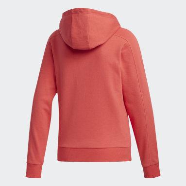Sweat-shirt à capuche Brilliant Basics Rouge Femmes Sportswear