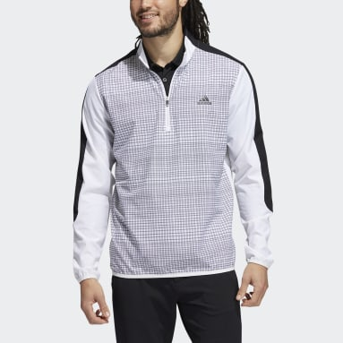 Men Golf White Primegreen Printed Quarter-Zip Sweatshirt