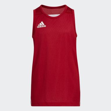 Children Basketball Red 3G Speed Reversible Jersey