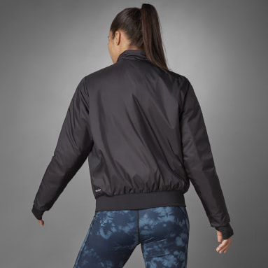 Women's Running Black Thermal Woven Jacket