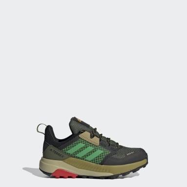 Kids TERREX Green Terrex Trailmaker RAIN.RDY Hiking Shoes