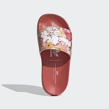 Kids Originals Pink Adilette Lite Slides