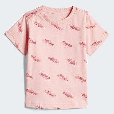 เด็ก Sport Inspired สีชมพู ชุดเสื้อและกางเกง Favorites