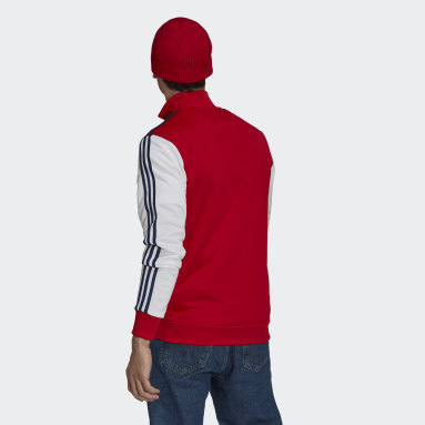 Men Football Red Arsenal 3-Stripes Track Top