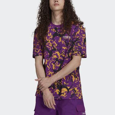 T-shirt adidas Adventure Archive Print Violet Hommes Originals