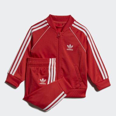 Pants Con Sudadera Superstar (UNISEX) Rojo Niño Originals
