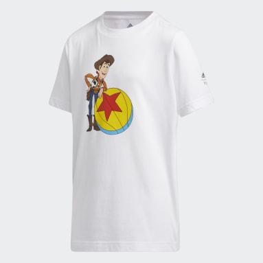 Camiseta Basquete Woody x Luxo Toy Story (UNISSEX) Branco Kids Basquete