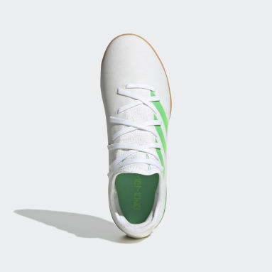 Kids Football White Gamemode Knit Indoor Boots