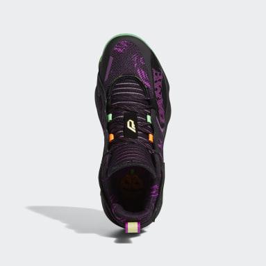 บาสเกตบอล สีดำ รองเท้า Dame 7 EXTPLY