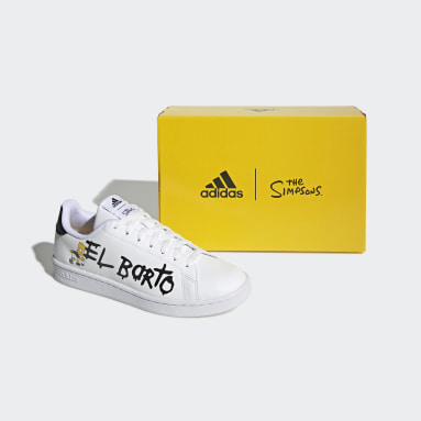 Men Sport Inspired White Advantage The Simpsons Shoes