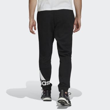 Pantalon Essentials Fleece Tapered Cuff Logo Noir Hommes Sportswear