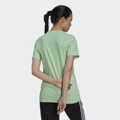 Women's Originals Green Adicolor Classics Trefoil Tee