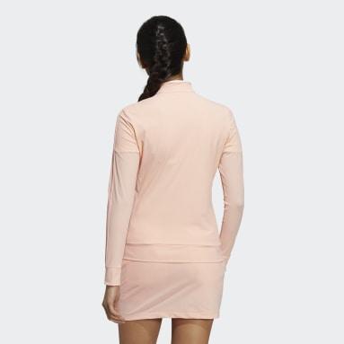 Women Golf Pink Primeblue Full-Zip 3-Stripes Track Jacket
