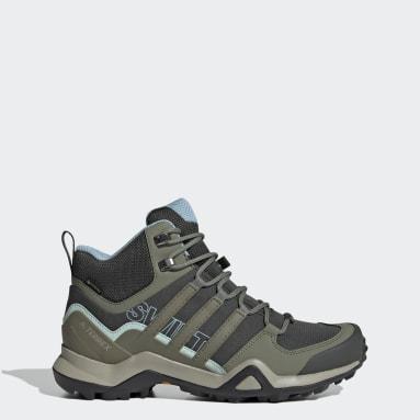 Kadın Outdoor Yeşil Terrex Swift R2 Mid GORE-TEX Yürüyüş Ayakkabısı