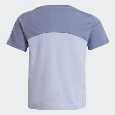 T-shirt adidas Essentials Colorblock Viola Ragazza Sportswear
