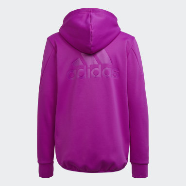 Felpa con cappuccio Designed to Move Fleece (Neutral) Rosa Bambini Fitness & Training