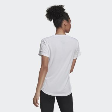 Women Running White Run It T-Shirt