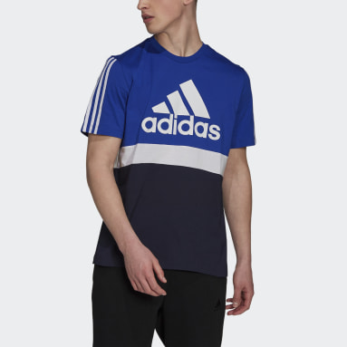 T-shirt Essentials Colorblock Blu Uomo Sportswear