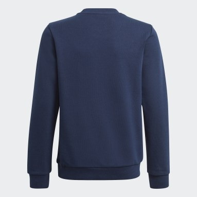 Youth 8-16 Years Originals Blue Trefoil Crew Sweatshirt