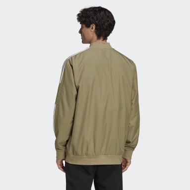 Men's Essentials Green Essentials Woven 3-Stripes Jacket