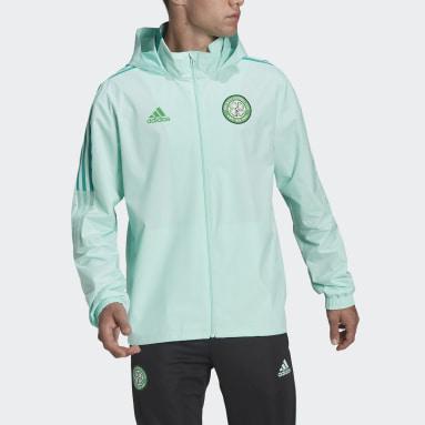 Men Football Turquoise Celtic FC Tiro All-weather Jacket