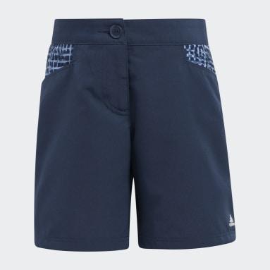 Girls Golf Blue Print Primegreen AEROREADY Shorts