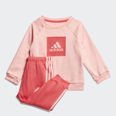 3-Stripes Fleece Jogger Set Różowy