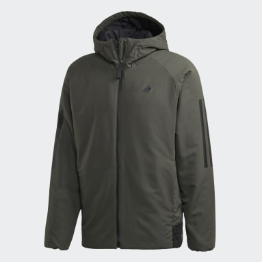 Herr City Outdoor Grön Back-to-Sports 3-Stripes Hooded Insulated Jacket