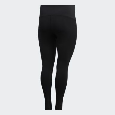 Women's Yoga Black Believe This Solid 7/8 Tights (Plus Size)