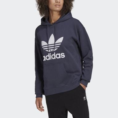 adidas Adicolor Trefoil Hettegenser Blå