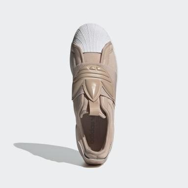 Men Originals Beige Superstar Slip-on Shoes