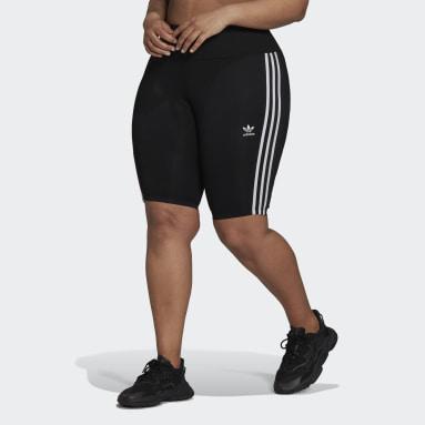 Dames Originals Zwart Adicolor Classics High-Waisted Primeblue Korte Legging (Grote Maat)