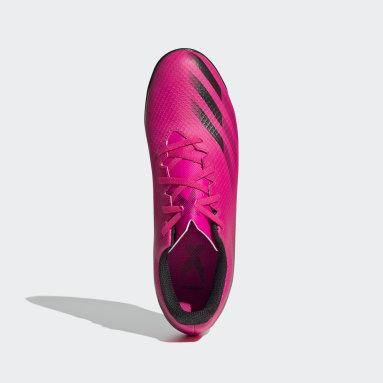 Chuteira X Ghosted.4 Futsal Rosa Homem Futebol