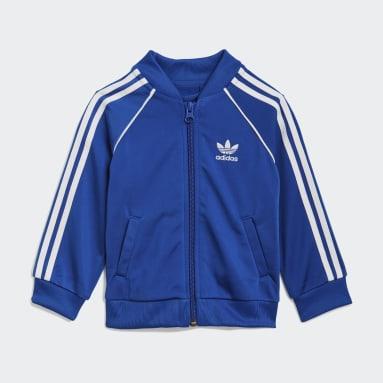 Conjunto chaqueta y pantalón Adicolor SST Azul Niño Originals
