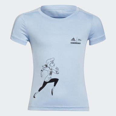 Camiseta Disney Comfy Princesses Azul Niña Gimnasio Y Entrenamiento
