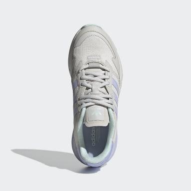 Women Originals Grey ZX 1K Boost Shoes