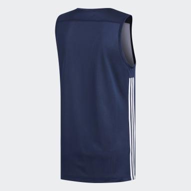 Men Basketball Blue 3G Speed Reversible Jersey
