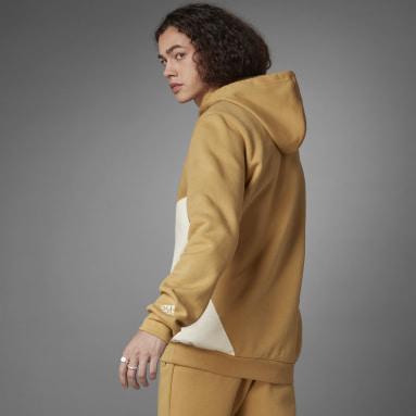 Sweat-shirt à capuche Logo Beige Hommes Sportswear