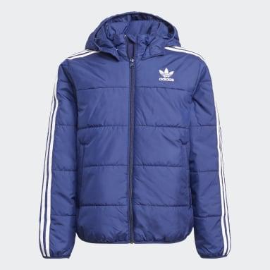 синий Куртка Adicolor