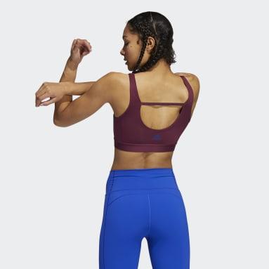 Reggiseno sportivo Don't Rest Medium-Support 3-Stripes Rosso Donna Trail Running