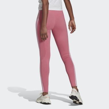 Women's Originals Pink Adicolor Classics 3-Stripes Tights
