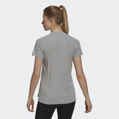 Camiseta AEROREADY Designed 2 Move Cotton Touch Cinza Mulher Training