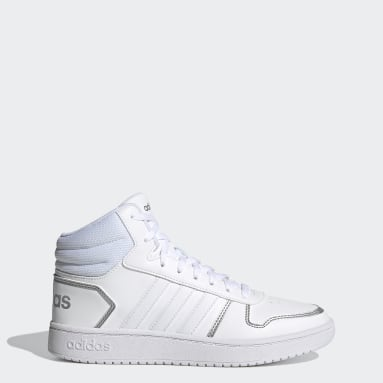 Women Basketball White Hoops 2.0 Mid Shoes